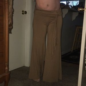 Comfy brown flared pants